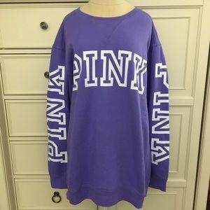 PINK Victoria's Secret Purple Crew Sweatshirt